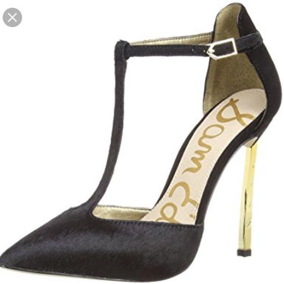 4b0b3362a603c4 Sam Edelman Shoes - Sam Edelman - Smithfield T Strap with Gold Heel